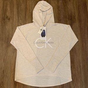 Calvin Klein Jeans Women's Hooded Pullover Shirt